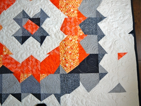Supernova Quilt Quilted