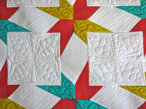 Stars Quilt Quilted