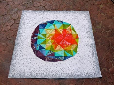 Spacedust Quilt Top