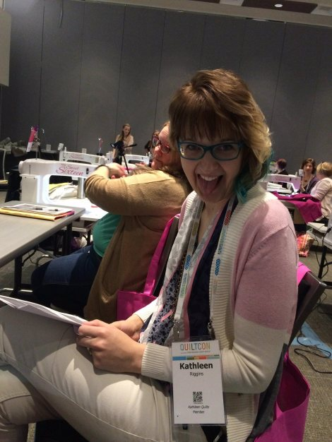 Kathleen at Quilt con